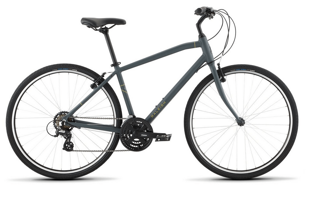 a grey raleigh detour 1 bicycle