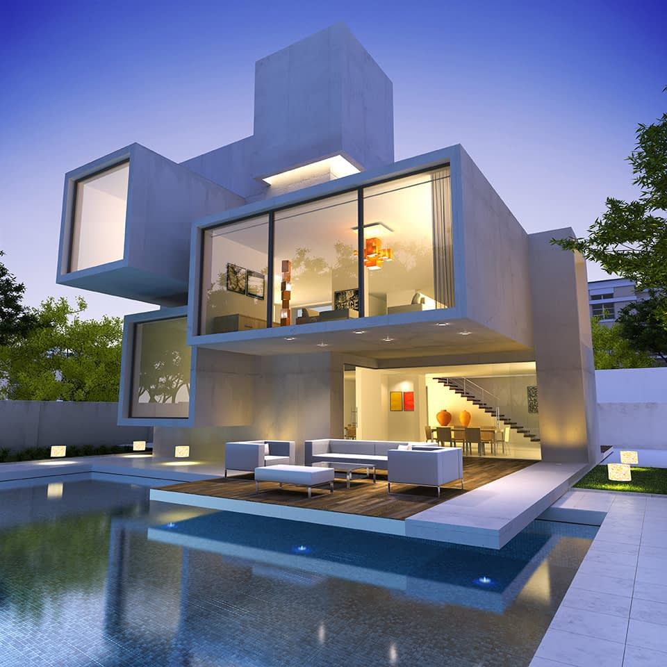 A house with a pool in west hollywood