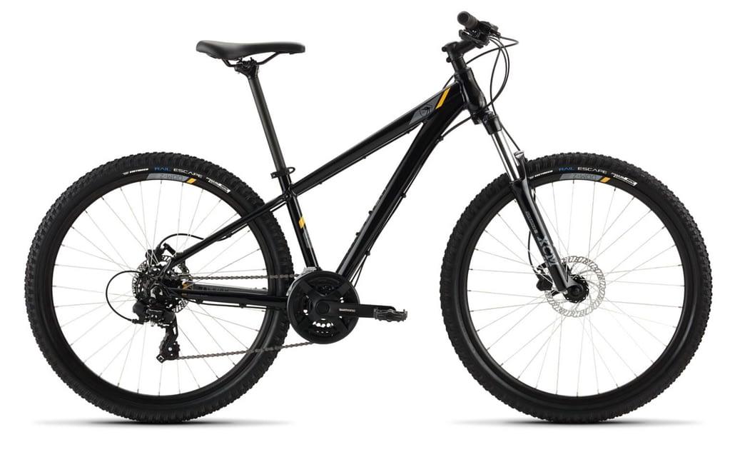 a brand new black raleigh talus 3 bike