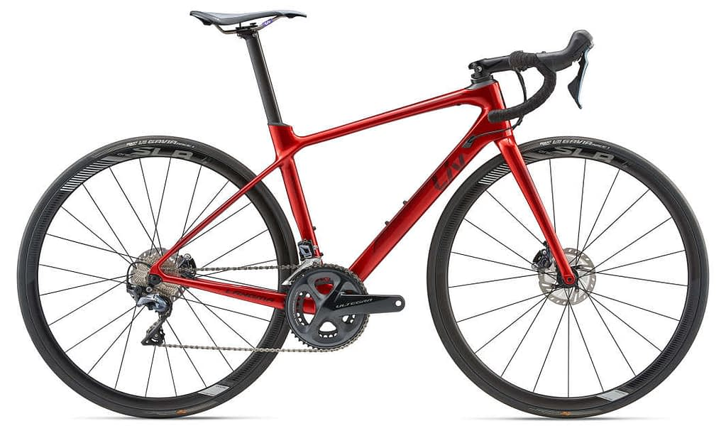a red and black liv langma bike