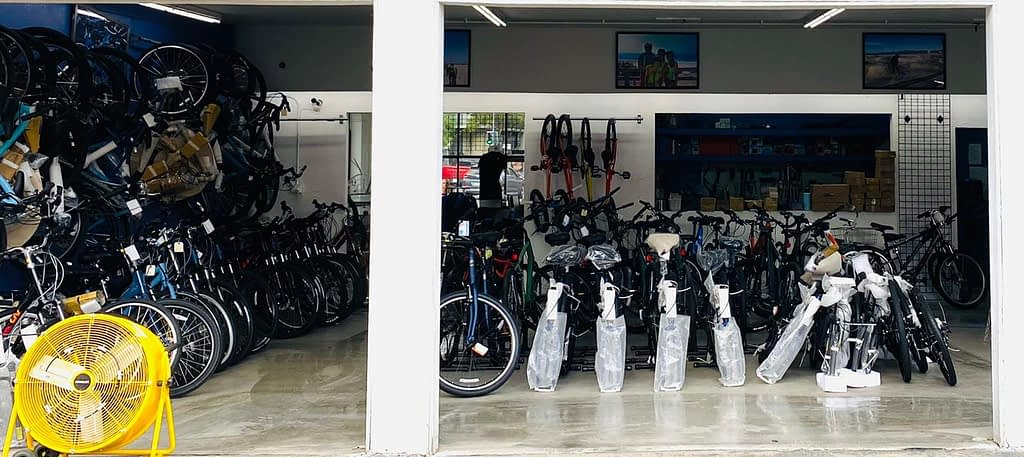 bikes in a bike shop