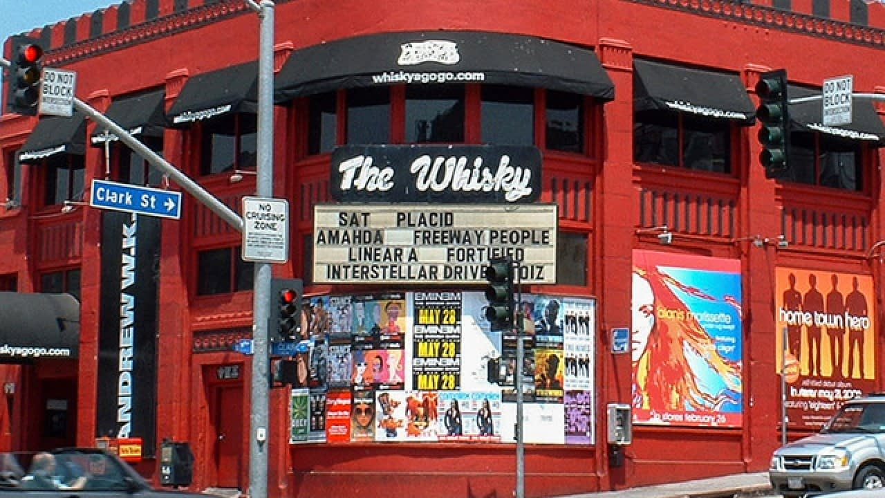 signs outside of whisky a go go los angeles